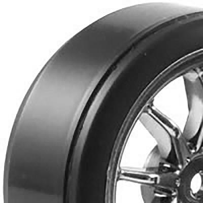 Fastrax 1/10th street wheel/ drift tyres 10-spoke chrome