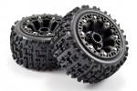 Fastrax 1:16 Jigsaw Mounted 8-sp Black (Revo/Summ/Sav XS )