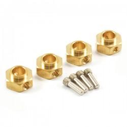 Fastrax TRX-4 Brass Hex Wheel Hub (4)